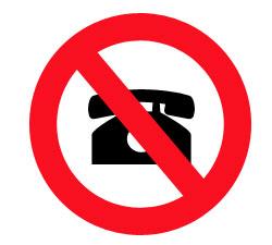 no mobile phones on a forklift