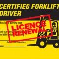 Forklift Licence Renewal